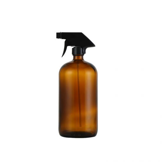 Amber Bronze Liquid Soap Dispenser Bottle